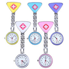 Clip Nurse Doctor Hanging Pendant Pocket Nurses Watch Quartz Red Cross Brooch
