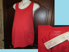 Maternity Tank Top Plus Size 2x OR 3x Motherhood Side Ruched Coral Red NWT NEW