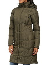 NWT $289 The North Face Metropolis Down Parka Coat Forest Night Green TNF Black