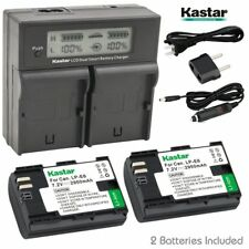 Kastar 2 Battery & Dual Ultra Fast Charger for Canon LP-E6 LP-E6N LPE6 LPE6N