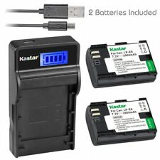 Kastar 2 Battery & LCD-3 USB Charger for Canon LP-E6 LP-E6N LPE6 LPE6N LC-E6