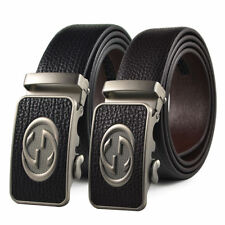 Fashion Casual Luxury Mens Belt Automatic Buckle Genuine Leather Waistband Strap