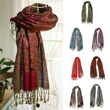 Fashion Womens Cashmere Scarf Winter Warm Floral Tassel Pashmina Shawl Wrap