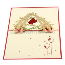 3D Pop Up Greeting Cards Handmade Festival Christmas New Year Decor Xmas Gifts