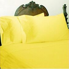 1000TC Yellow { Stripes Color } 100% Cotton Bed Items Twin / Full / Queen Sizes