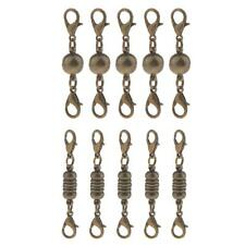 5Pcs Vintage Smooth Round Ball Cylinder Magnetic Clasps for Jewelry Findings DIY