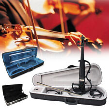 4/4 Full Size Wood Electric Violin Portable Boxes Alto Saxophone Hardshell Cases