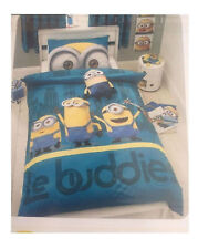 Children Minions Print Official Licensed Character Single Duvet Cover Bed Sheet