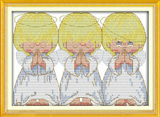 The pray little angels cross stitch kits 18ct 14ct 11ct counted print fabric set