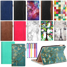 Leather Smart Folio Stand Luxury Painted Flip Case Cover Kindle Fire HD 8/HD 10""