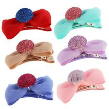5Pcs Colorful Baby Girl Hair Clip Bows Cap Alligator Clips Barrettes