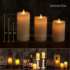 Electric Flameless LED Candle Light Flickering Flame Atmosphere Lamp &Timer C8O3