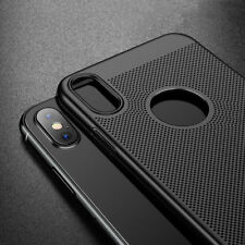 Luxury Ultra Thin Slim PC Mesh Hard Back Case Cover For iPhone X 10 8 Plus 7 6