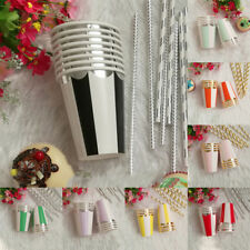 Party Supplies Tableware Disposable 8pcs Paper Cups Colorful Wedding Birthday