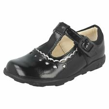 Girls Clarks Patent First T-Bar Shoes Ella Alice