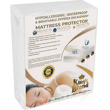 Zippered Mattress Encasement Fully Encased Protector Bed Bug Water Proof Fabric