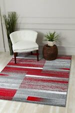 RUG AREA RUG CARPET FLOORING 4958 RED ABSTRACT CARPET AREA RUG NEW SALE