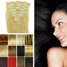 Grade AAA Any Lengths Clip In Remy Human Hair Extensions Full Head Pretty Lady