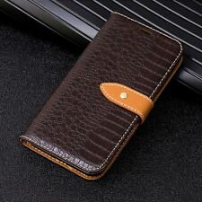 Crocodile Skin Pattern Flip Stand Wallet Leather Case For iPhone X 7 8 6s 6 Plus
