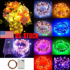 2/5/10M Battery Operated LED Copper Wire String Fairy Lights Xmas Party Decor US