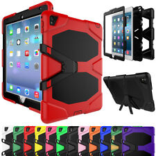 Hybrid Bumper Shockproof Military Rubber Hard Case Cover For Apple iPad Tablets