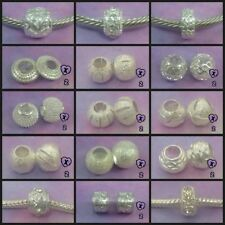 ~ Shiny Silver Style Charms/Spacer Beads ~ FOR CHARM BRACELETS ~Organza Gift Bag