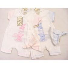 Baby Girls & Boys Romper Suit and Hat Set
