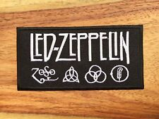 LED ZEPPELIN Patch Sew Iron On Rock Band Embroidered Music Logo