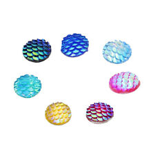 50x Resin Flatback Buttons Cabochon Embellishment for DIY Hair Accessories 12mm