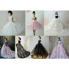 Handmade Elegant Wedding Party Bridal Gown Dress Clothes for Barbie Dolls