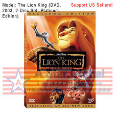 The Lion King (DVD, 2003, 2-Disc Set, Platinum Edition Featuring All-New Song)