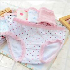 2PCS Children Baby Girl Lovely Cotton Dot Cartoon Underwear Kids Boxer Shorts