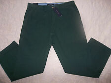 TOMMY HILFIGER CHINO PANTS MENS GRADUATE SLIM SIZE 36X30 ZIP FLY GREEN COLOR NWT