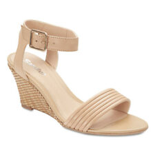 NEW Sandler Hayley Camel Leather Wedge Sandals