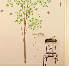 """98"""" Tall Large Tree Wall Decals Birch Birds Removable Vinyl Home Decor Stickers"""