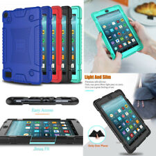 For Amazon Kindle Fire 7 / 8 2017/2016/2015 Case Soft Silicone Rugged Cover Skin