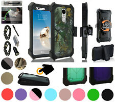 """for 5"""" LG Phoenix 3 LG K4 2017 Case 360° Cover Screen Protector Crystal Holster+"""