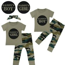 Newborn Baby Girl Boy Clothes Short Sleeve Top T-shirt+Pants Leggings Outfit Set
