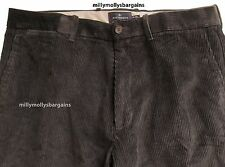 New Mens Marks & Spencer Black Cord Trousers Waist 44 42 40 38 36 34 32