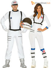 Adults Astronaut Costume Mens Ladies Space Man Suit Fancy Dress Womens Outfit