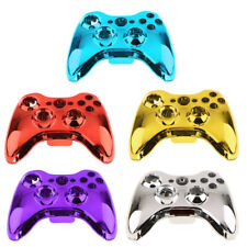 Chrome Housing Shell Full Set Faceplates Buttons for Xbox 360 Controller