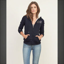 NWT Abercrombie & Fitch Womens Sherpa Lined Logo Hoodie