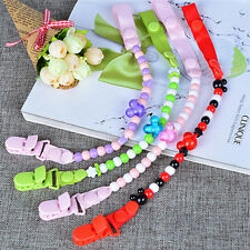 Baby Pacifier Clip Chain Dummy Pacifiers Leash Strap Beads Teether Toy BLBD