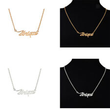 Women Girl's Shining Unique Word Pendants Necklace Alloy Fashion Jewelry