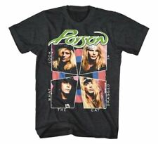 NEW Officially Licensed Poison Cat Dragged In T-Shirt Rock Band