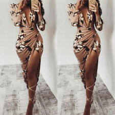 Evening Party Cocktail Beach Short Mini Dress Women's Casual Bodycon Long Sleeve