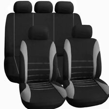 AUTOYOUTH Universal Car Seat Covers 9PCS Full Set Automobile Seat Covers for Cro