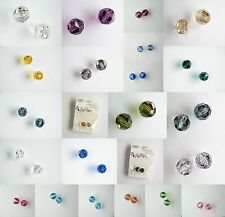 Two x 10mm Round Swarovski Crystal Beads, Various Colours