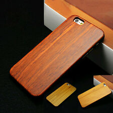 Natural Wooden Genuine wood Bamboo Hard Case Cover shell for iPhone 7 6s Plus