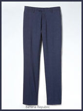 BANANA REPUBLIC MENS $118 Slim Pinstripe Performance Wool Dress Pants NAVY New